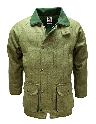 DERBY TWEED BREATHABLE HUNTING SHOOTING JACKET COAT WATERPROOF BRANDED MENS WOOL (Large)