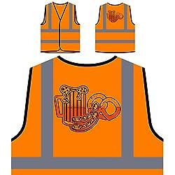 Deutsche Bierwurst Personalisierte High Visibility Orange Sicherheitsjacke Weste u545vo