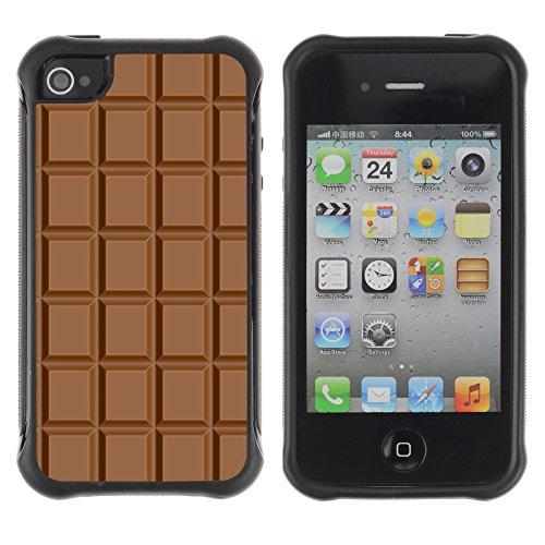Graphic4You Praline Bar Schokolade Design Harte Hülle Case Tasche Schutzhülle für Apple iPhone 4 und 4S Design #3
