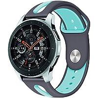 samLIKE Pulsera de Silicona para Samsung Galaxy Watch 46mm–Mode Rayas Diseño Transpirable Perforado Cinta para Samsung Galaxy Watch 46para Hombre y Mujer, Unisex, Color �� E