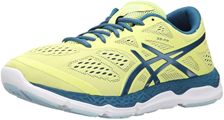 Zapatillas de running 33-FA para mujer, Sunny Lime / Mosaic Blue / White, 6.5 M US