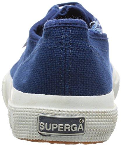 Superga 2750 COTUSTONEWASH, Sneaker Unisex - Adulto BLUE MD COBALT