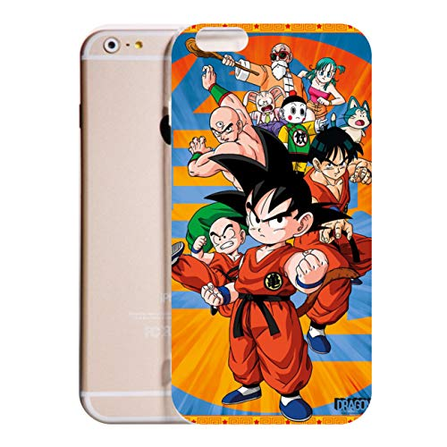 Cover iPhone XS-XR-XS MAX-X-8-8PLUS 6-6 Plus - 6S - 6S Plus - 7-7 Plus - Dragonball Modello 1 Trasparente Vari Colori UltraSottili AntiGraffio Antiurto Case Custodia (iPhone XR, Trasparente)