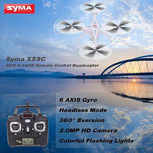 Syma X5SC Verbesserter Neue Version Syma X5SC-1 Falcon Drone HD 2.0MP Kamera 4-kanal 2,4 G Fernbedienung Quadcopter 6 Achse 3D Klapp Fliegen UFO 360 Grad Eversion Mit 4GB SD Karte – Weiß, x5sc-1 - 6