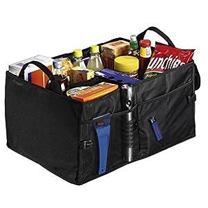 Hama Auto Kofferraumtasche (mit Klett, Einkaufstasche faltbar, groß: 53 x 38,5 x 27 cm) schwarz