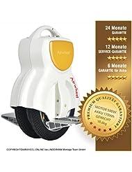 Eléctrico monociclo airwheel Q1Motor Potencia 500W batería 170Wh Blanco de amarillo
