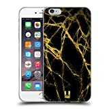 Head Case Designs Gold Marmor Glitzer Druecke Soft Gel Hülle für iPhone 6 Plus/iPhone 6s Plus