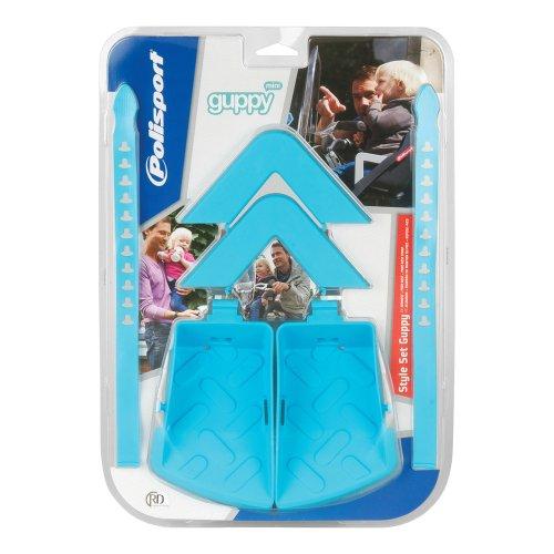 Polisport, Set di mini braccioli e poggiapiedi per seggiolino bici bambini Guppy Mini, Blu (Mehrfarbig - L/Blue)