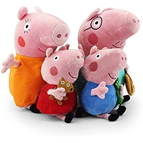 Andy Candy Peppa Pig Family Plush Doll 4PCS Set 30cm Daddy Mummy Pig And 19cm George Andy Candy Peppa Pig As Gift by Andy
