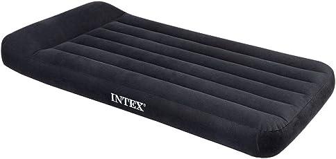 """Intex 12-66779 Luftbett Pillow Rest Classic """"Blue"""" 230 V Twin inklusiv integrierter elektrischer Luftpumpe, 99 x 191 x 23 cm"""