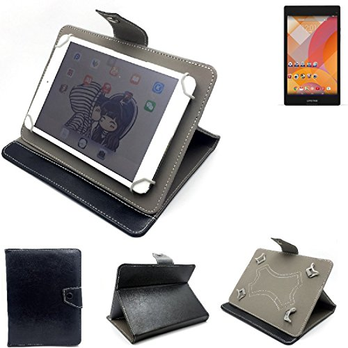 K-S-Trade Schutz Hülle Tablet Case für Medion Lifetab S8312, schwarz. Tablet Hülle mit Standfunktion Ultra Slim Bookstyle Tasche Kunstleder