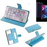K-S-Trade® Flipcover Für Archos Oxygen 57 Schutz Hülle Schutzhülle Flip Cover Handy Case Smartphone Handyhülle Blau