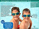 »Zippo« Kinder-Schwimmbrille / 100% UV-Schutz + Antibeschlag / Starkes Silikonband + stabile Box / AF-8700 / hellblau/gelb -