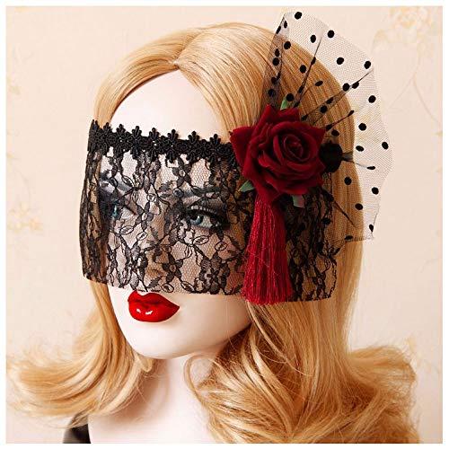 COS Japan Tokyo Maskerade Prinzessin Maske Kostüm Gesicht Schleier Half Face Fun Lace Rose Lady Maske