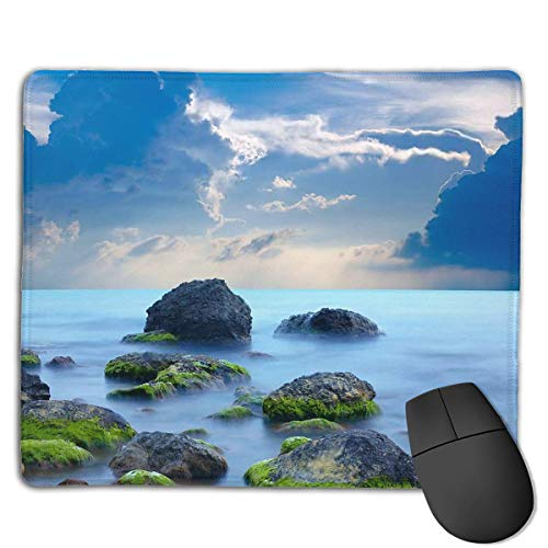 Sea Stones at Sunset Customized Rectangle Non-Slip Rubber Mousepad Gaming Laptop Mouse Pad Mousepad Anti-Slip Mouse Pad Mat Mice Mousepad Desktop Mouse Pad 18 cm X 22cm -