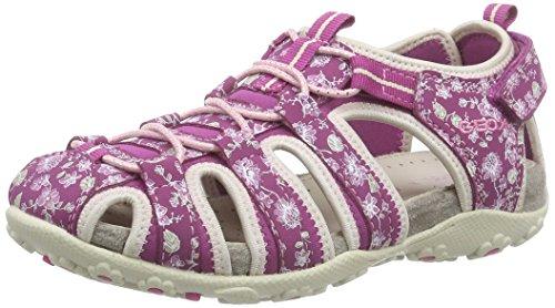 Geox JR SANDAL ROXANNE C, Mädchen Geschlossene Sandalen, Pink (FUCHSIA/LT BEIGEC8872), 39 EU
