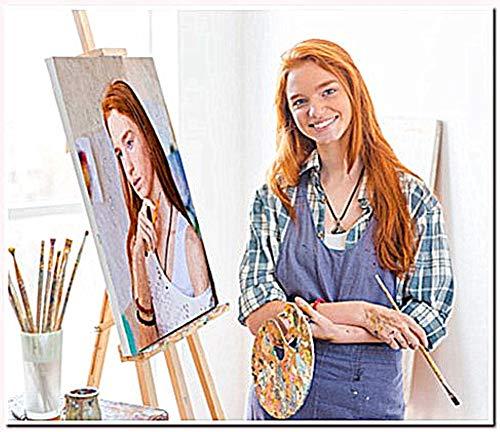 Yeesam Art Personalisierbare'Malen nach Zahlen-Sets' mit eigenen Fotos, personalisierbar, personalisierbar, Zahlen für Erwachsene 16'x20' With Frame