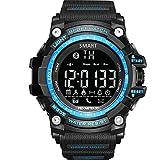 GuDoQi Digital Sportuhr Intelligente Bluetooth 4.0 LED Uhr Unterstützung Anruf Und SMS Erinnerungsschrittzähler Wasserdichte Uhr Blaue Farbe