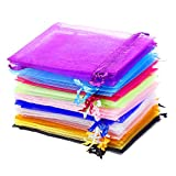 SULOLI Organza Bags Small Gift Bags Wedding Party Favor Bags 9 x 12CM Jewelry Pouches