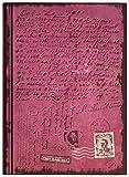 Notizbuch/Tagebuch: First Class Mail, violett metallic, mit Schriftzügen (innen und außen),liniert, Hardcover