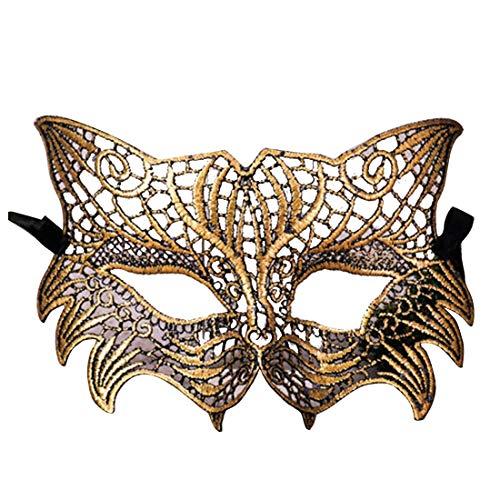 (YYF Halloween Überzogene Sexy Spitze Styling Fuchs Maske Prom Dress Kostüm Studio Dekoration Aktivitäten)