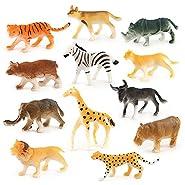 12pc bambini assortiti plastica giocattolo animali selvatici Jungle Zoo figura caratteristica: 100% nuovo e di alta qualità. Quantità: 1set (12PC animali) Attenzione: non mangia Materiale: plastica Dimensioni: 5cm*1.5*3.5cm una simulazion...