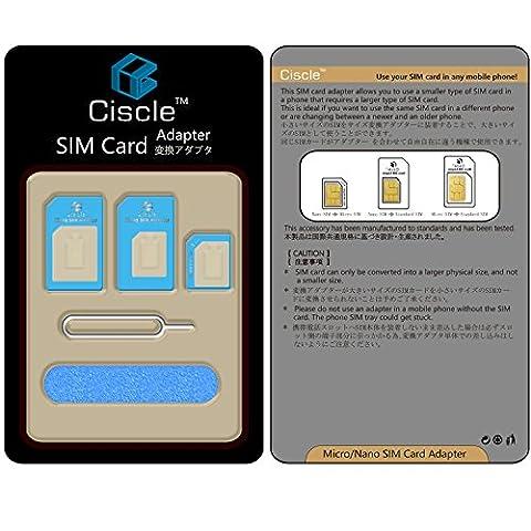 Ciscle 5 en 1 Kit adapteur convertisseur carte Nano SIM