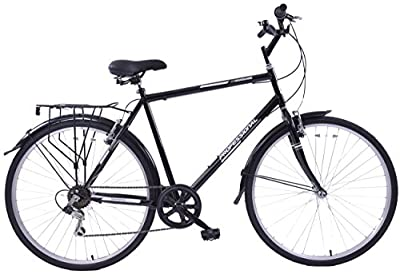 "New Professional Woodland 18"" Frame Mens Hybrid Bike 700c Wheel 6 Speed Black"