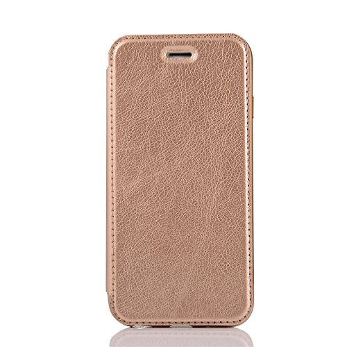 Coque Apple iPhone 6 / 6s PU cuir flip Wallet Etui Case Cover Housse or