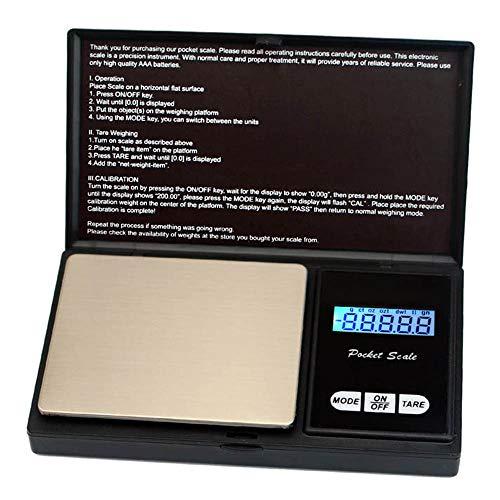 DuDuDu Poids de Balance 0,01 Bijoux Pocket Mini Balance de précision électronique numérique pièce gramme d'Or pesant échelles LCD 7 unités 500g 0,01 g