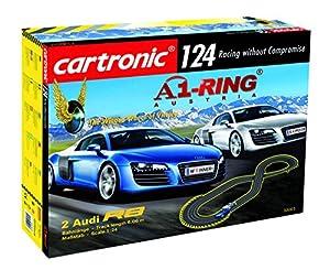 Cartronic A1-Ring Austria - Caña de Carreras para Coche (Escala 1:24, 6 m, con 2 Modelos Audi R8 y Circuito de Carreras)