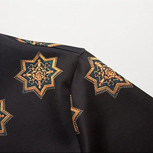 YiJee Casuale T-Shirt Liscio Felpa con A Manica Lunga da Uomo Come l'immagine 1