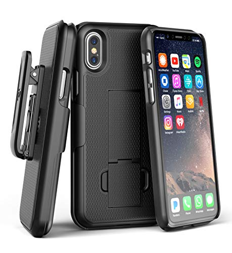 bc521aed6 Encased iPhone XS MAX Belt Clip Holster Case, Ultra Slim DuraClip  (Rubberized Grip)