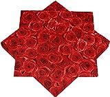 HEKU 30243-03 100 Servietten, 3-lagig, Rote Rosen