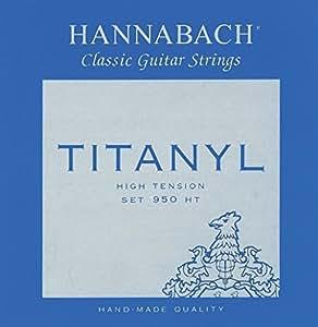 Hannabach Cordes Guitare classique Série 950 Tension forte Titanyl Jeu de 3 Basses