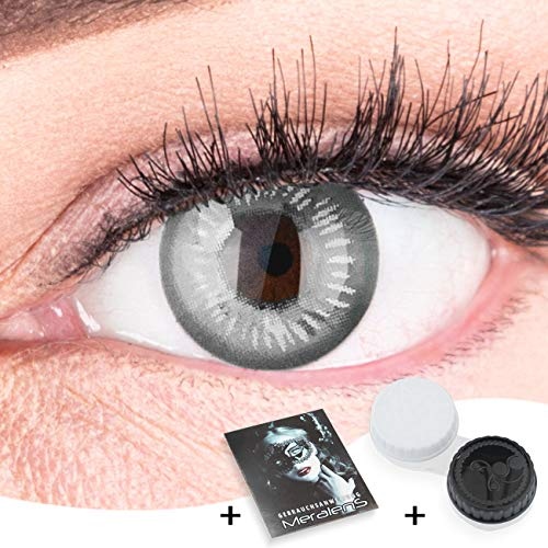 Farbige Graue Kontaktlinsen Anime Gray Circle Lenses Heroes Of Cosplay Stark Deckend Ohne Stärke mit gratis Linsenbehälter