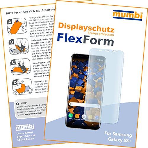 1 x mumbi FlexForm Schutzfolie für Samsung Galaxy S8+ Folie (TPU Displayschutzfolie legt sich passgenau um das gebogene Display)