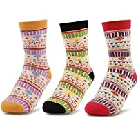 3 Pairs Women Athleisure Hiking Socks - No Blister, Breathable, Warm, Comfy Cotton Terry Cushion Inside, for Outdoor Sports Running Walking Trekking Cycling Camping Golf Gym, Ladies/Girls UK Size 3-8