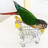 Toruiwa Mini Panier de Supermarché Jouet Mini Caddie pour Perroquet, Perruche