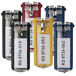 Durable 195700 Schlüsselanhänger, 6 Stück farbig sortiert