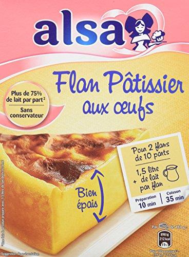 Alsa Préparation Flan Pâtissier aux Œufs 2 Sachets 720g - Lot de 3