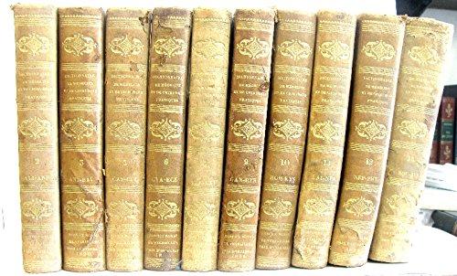 11 tomes (Incomplet). Dictionnaire de médecine et de chirurgie pratiques de 1836.