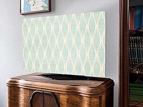 screencover - Abdeckung für Ihren Flatscreen, alle Zollgrößen möglich, Material Hartschaum weiß, mit Motiv Blass Blaue Flammen, Größe 32'' TV (83cm x 51cm)