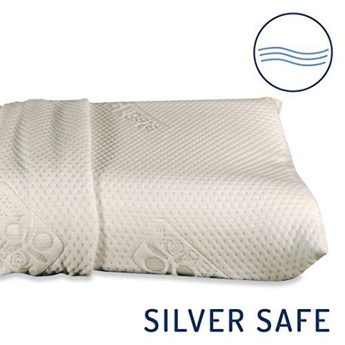 confronta il prezzo Baldiflex - Cuscino in Memory Foam - Modello Ortocervicale - Fodera in Silver Safe miglior prezzo