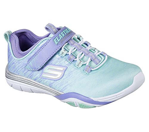 Skechers 82197L Girl's Stella - Sporty Spice Sneakers, Turquoise/Lavender - 11