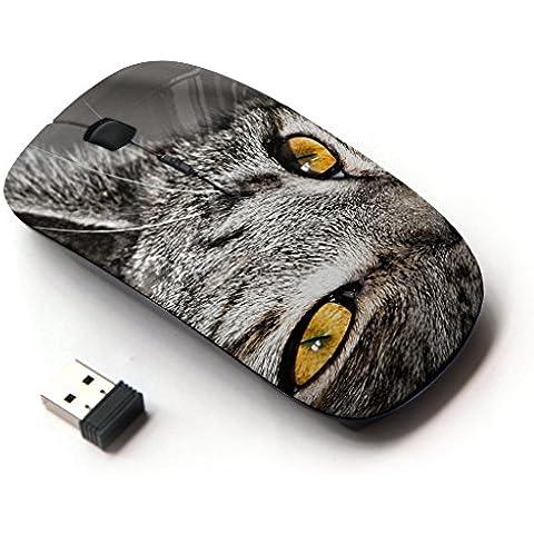 Peculiar-Star ( Chartreux Serengeti Bengal Shorthair Cat ) Impreso colorido ultrafino sin hilos óptico del ratón de 2,4 GHz-Negro