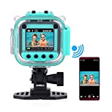 Funkprofi Kinder Digitalkamera Wifi Wasserdicht Kids Aktion Kamera Aktioncam Kidizoom Camera HD 1080P Cam Sport Kamera Camcorder DV 1.77