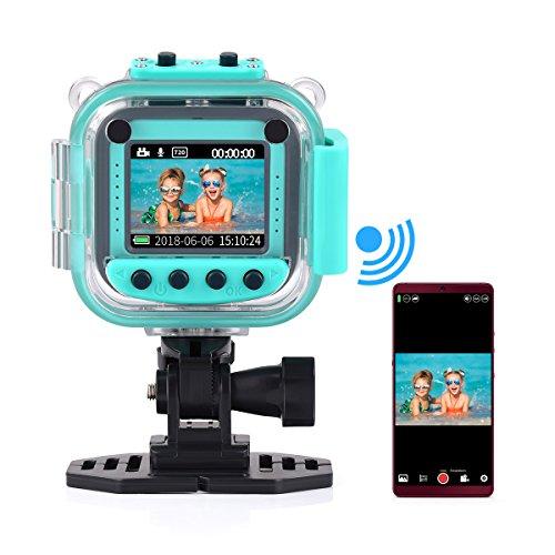 """Funkprofi Kinder Digitalkamera WiFi Wasserdicht Kids Aktion Kamera Aktioncam Kidizoom Camera HD 1080P Cam Sport Kamera Camcorder DV 1.77 """"LCD-Bildschirm für Geburtstag Urlaub Geschenk"""