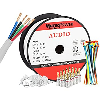 Mutec Power - 50 Meter In-Wall Lautsprecherkabel: Amazon.de ...