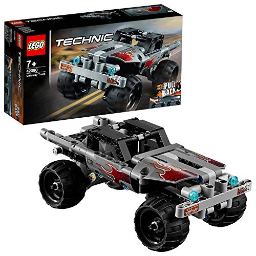 LEGO 42090 Technic Getaway Toy Truck, Pull-Back Motor, Monsters Truck Model, Vehicle Toys for Kids Best Price and Cheapest